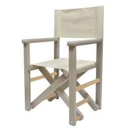 chaise metteur en sc ne personnalis e en bois teinte grise diabolokids. Black Bedroom Furniture Sets. Home Design Ideas