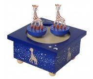 Boîte à musique Sophie la girafe, voie lactée en bois - TROUSSELIER