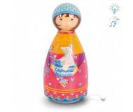 Lampe musicale La fille au renard L'Oiseau Bateau - Bleu Griotte