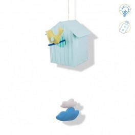 Cabane volante bleu ciel L'Oiseau Bateau - Bleu Griotte