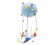 Mobile Schlumpeter Le Magicien L'oiseau Bateau - Bleu Griotte