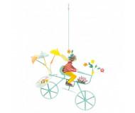 Mobile Triplette au hérisson roues bleues L'oiseau Bateau - Bleu Griotte
