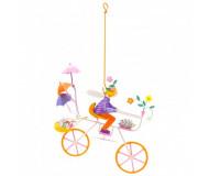 Mobile Triplette au hérisson roues orange L'oiseau Bateau - Bleu Griotte