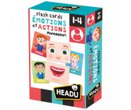Flash cards emotions et actions Montessori - Bleu Griotte