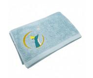 Serviette de bain bleue Renard personnalisable (70 x 140 cm) L'Oiseau Bateau - Bleu Griotte