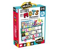 Loto tactile lettres et mots Montessori Headu - Bleu Griotte
