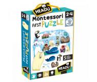 Montessori first puzzle le pôle Headu - Bleu Griotte