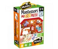 Montessori first puzzle ferme Headu - Bleu Griotte