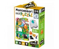 Montessori first puzzle jungle Headu - Bleu Griotte
