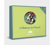 Jeu de 12 familles L'Histoire de France - Sylvie de Soye - Bleu Griotte