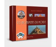 Jeu de 12 familles Les monuments du monde - Sylvie de Soye - Bleu Griotte