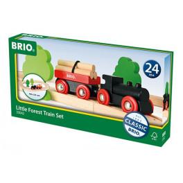 Petit circuit tradition de train en forêt - Jeux imitation bois BRIO – Bleu Griotte