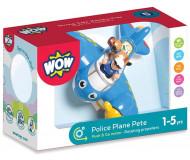 Avion de police Pete - WOW - Bleu Griotte