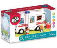 Ambulance Robin - WOW - Bleu Griotte