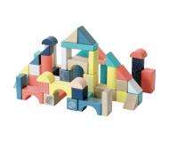 Baril 54 cubes en bois Vilac - Bleu Griotte
