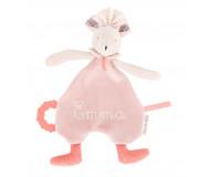 Doudou souris rose Mimi Il était une fois brodé au prénom - Moulin Roty