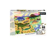 Puzzle Les dinosaures du crétacé 60 pièces Nathan - Bleu Griotte