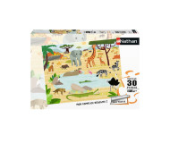 Puzzle Les animaux de la savane 30 pièces Nathan - Bleu Griotte