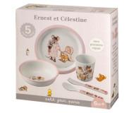 Coffret repas 5 pièces rose Ernest et Célestine Petit Jour Paris - Bleu Griotte