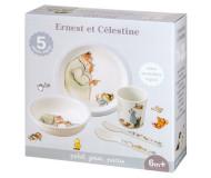 Coffret repas 5 pièces Ernest et Célestine Petit Jour Paris - Bleu Griotte