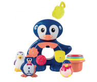 Coffret bain pingouin Ludi - Bleu Griotte