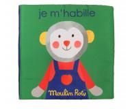 Livre d'activités Je m'habille Moulin Roty - Bleu Griotte