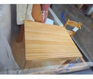 Ensemble Table et Chaise en bois naturel