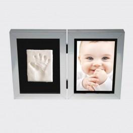 Kit empreinte bébé blanc LILIKIM - Bleu Griotte