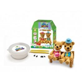 Kit teddy bear - Jeu de pâte à modeler Au Sycomore - Bleu Griotte